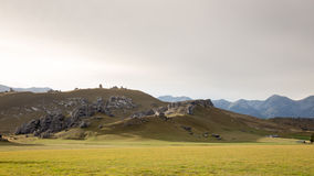 Collina del castello, Nuova Zelanda Fotografie Stock