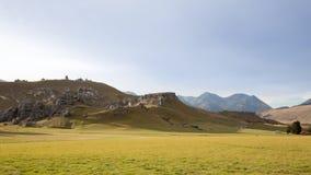 Collina del castello, Nuova Zelanda Immagini Stock