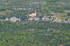 Collina del monastero Immagini Stock