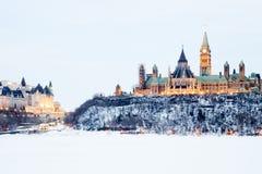 Collina del Parlamento di Ottawa Fotografia Stock Libera da Diritti
