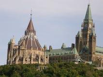 Collina del Parlamento in Ottawa fotografia stock libera da diritti
