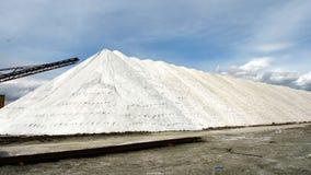Collina del sale nel Caka Salt Lake Fotografia Stock Libera da Diritti
