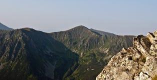 Collina del vrch di Hladky nel gruppo kopy della montagna di Liptovske in montagne di Tatras in Slovacchia Fotografie Stock
