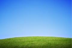 Collina dell'erba verde Fotografia Stock