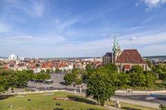 Collina della cattedrale di Erfurt in Turingia, Germania Fotografie Stock Libere da Diritti