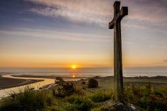 Collina della chiesa, Alnmouth Fotografie Stock