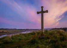 Collina della chiesa, Alnmouth Fotografia Stock Libera da Diritti