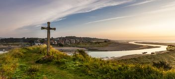Collina della chiesa, Alnmouth Fotografia Stock