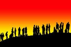 Collina della gente Fotografia Stock