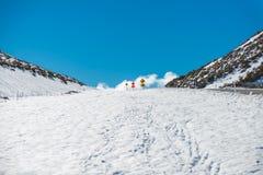 Collina della neve Immagini Stock