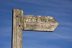 Collina della penna y Gand del Signpost Fotografia Stock