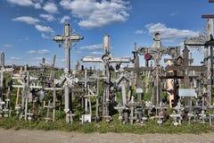 Collina delle traverse, Lituania Fotografie Stock Libere da Diritti