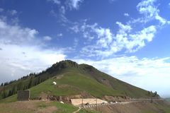 Collina dello Xinjiang Fotografia Stock