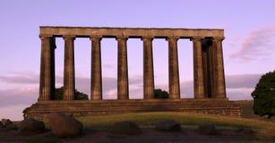 Collina di Calton del monumento nazionale, Edinburgh, Scozia Immagini Stock