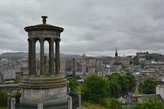Collina di Calton a Edimburgo, Scozia Fotografia Stock Libera da Diritti