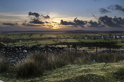 Collina di Caradon di tramonto, Cornovaglia, Regno Unito Fotografia Stock Libera da Diritti