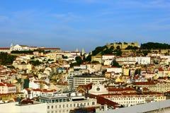 Collina di Catle e del centro, Lisbona, Portogallo Fotografia Stock