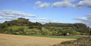 Collina di Downham & fossa di Uley fotografia stock libera da diritti