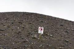 Collina di estrazione mineraria Immagine Stock