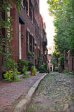 Collina di falò, via storica di Boston fotografia stock