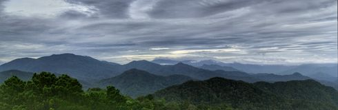 Collina di Fraser's della catena montuosa Fotografie Stock