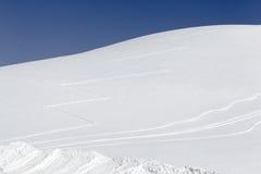 Collina di inverno Immagine Stock