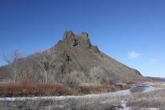 Collina di Malheur all'inverno fotografia stock libera da diritti