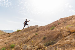 Collina di pietra alta corrente del deserto di Spotsman Fotografia Stock Libera da Diritti