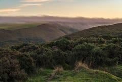 Collina di Porlock, Inghilterra, Regno Unito fotografie stock libere da diritti