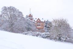 Collina di Richmond coperta in neve Fotografie Stock