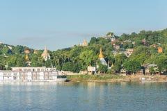 Collina di Sagaing, regione di Mandalay, Myanmar immagine stock