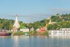 Collina di Sagaing, regione di Mandalay, Myanmar fotografia stock