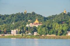 Collina di Sagaing, regione di Mandalay, Myanmar immagine stock libera da diritti