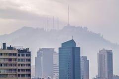 Collina di San Cristobal a Santiago Immagine Stock Libera da Diritti