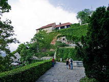 Collina di Schlossberg a Graz - Fotografie Stock Libere da Diritti