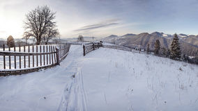 Collina di Snowy fotografia stock libera da diritti