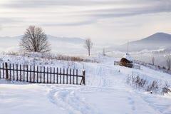 Collina di Snowy fotografia stock