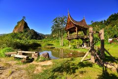 Collina di Takuruang la maggior parte di bei posti da visitare in Indonesia immagine stock