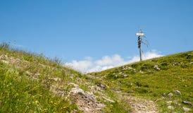 Collina di Velika Planina, Slovenia Fotografie Stock