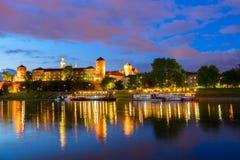 Collina di Wawel a Cracovia, Polonia fotografia stock