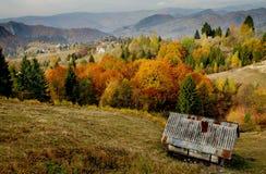 Collina e valle Fotografia Stock