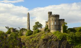 Collina Edinburgh Scozia di Calton Fotografia Stock Libera da Diritti