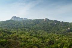 Collina fertile al parco nazionale di Bukhansan a Seoul immagine stock libera da diritti