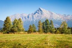 Collina Krivan in alta montagna di Tatras, Slovacchia Fotografia Stock Libera da Diritti