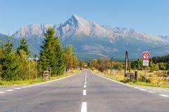 Collina Krivan in alta montagna di Tatras, Slovacchia Fotografia Stock