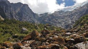 Collina a Laguna congelato al Cile Fotografia Stock