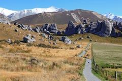 Collina Nuova Zelanda del castello Fotografie Stock Libere da Diritti