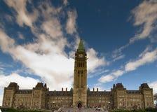 Collina ottawa del Parlamento Fotografie Stock