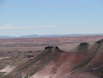 Collina pendente del deserto dipinto Fotografie Stock