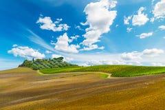 Collina pittoresca in Toscana Fotografia Stock